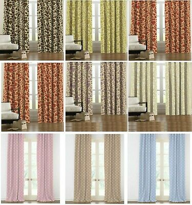 Thermal PENCIL PLEAT 100% Blackout PAIR Curtains Ready Made Fully Lined Luxury