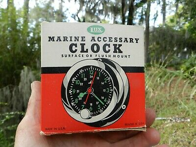 Vintage Lux Clock New Old Stock Box Boat Marine