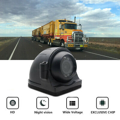 CCD Heavy Duty Side View Camera 120° Lens Night Vision Adjustable Truck Color