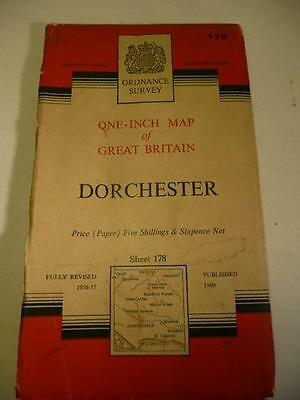 ORDNANCE SURVEY ONE INCH MAP DORCHESTER NATIONAL GRID 178 7th Series