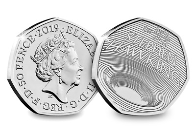STEPHEN HAWKING 2019 50p Pence Coin BUNC sealed on card.Hurry only few left.