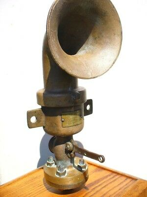 Rare Brass Ship Train Large Air Horn 1880-1910 Star Brass Boston