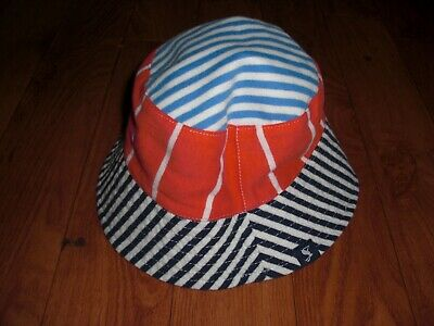 BNWT BABY BOYS JOULES BRIT REVERSIBLE SUN HAT AGE 0-6 or 6-12 MONTHS.rrp £12.95