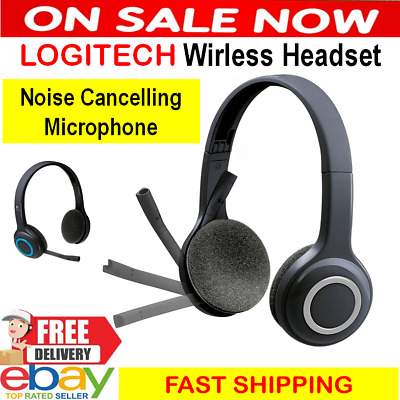 LOGITECH Wireless Headset Microphone PC Computer Headphones Laptop MIC H600 USB