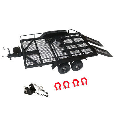 1/10 Scale RC Climbing Truck Model Heavy Duty Trailer Metal for Axial SCX10