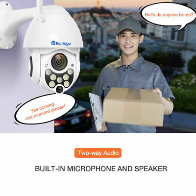 1080P Wireless 2MP PTZ Speed Dome 2-Way Audio Security WiFi CCTV Camera+32G Card