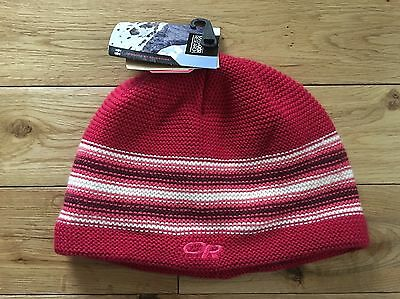 e02d5d85fd8 Outdoor Research Spitsbergen Beanie Red Stripe Youth Girls Size  Medium Large NWT
