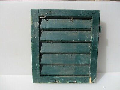 """Vintage French Wooden Window Shutter Wood Old Salvage 17.5""""x 15.5"""""""