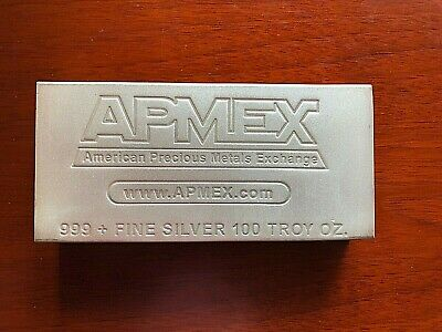 100 oz APMEX silver bar