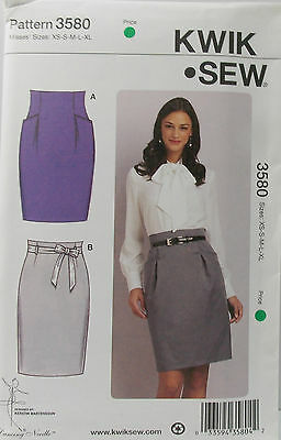 KwikSew Pattern #3603 Misses Tunic Length Tops Size XS-S-M-L-XL