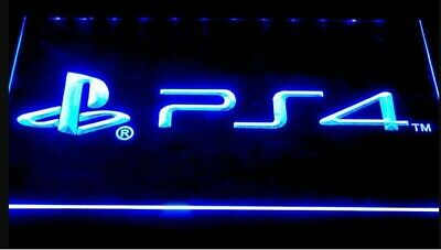 PS4 Playstation 4 LED Neon Bar Sign Home Light up mancave game room arcade PS5