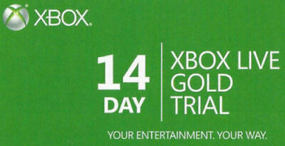 Xbox Live 14 Day (2 Weeks) Gold Trial Membership Fast Dispatch