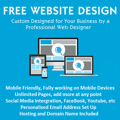 WEBSITE DESIGN SERVICE - Domain, Hosting & SEO Included with Unlimited Pages
