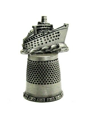 Fort Pewter Thimble Cruise Ship Topper