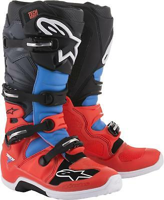 11 2012014-136-11 Alpinestars Tech 7 Mens Off-Road Motorcycle Boots Black//Red//Yellow