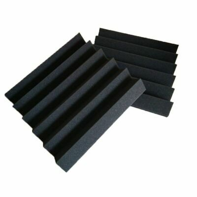 6 Pack Wedge Premium Acoustic Sound Proofing Studio Foam Wall Tiles 12 x12 x 2