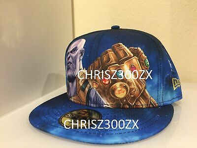 Marvel New Era Avengers Infinity War Thanos Gauntlet 59Fifty Fitted Hat Cap