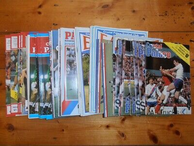 10 x 1980's CRYSTAL PALACE HOME PROGRAMMES - Select from list - FREE POSTAGE