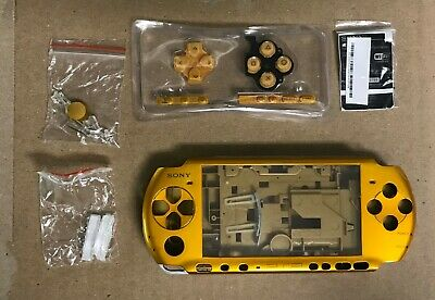 PSP 3000 Full Housing Shell Case Replacement Kit Copper Metallic Gold NEW!