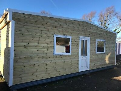 £5,450 +vat 28x10ft Timber Cladded Portable Building/open Plan Office REDUCED!