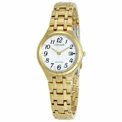 Citizen EW2482-53A Women's Eco-Drive Corso Stainless Steel White Dial Gold Watch