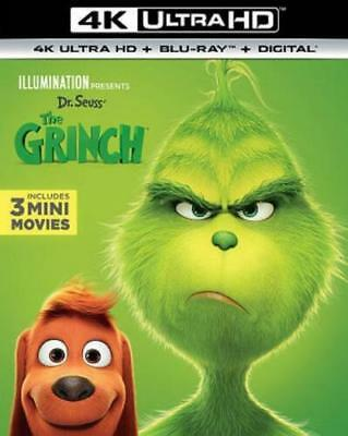 The Grinch 4k Ultra HD Blu Ray, 2019, SHIPS TODAY, with SLIP COVER