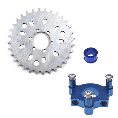 "1.5/"" CNC Silver Adapter 38T Sprocket Fit  415 Chain49cc cc 80cc Motorized Bike"