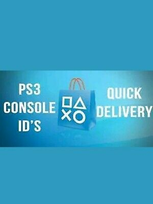 PS3 Console ID/CID + PSID 100% Private MOST TRUSTED SELLER Limited Time at £4.25