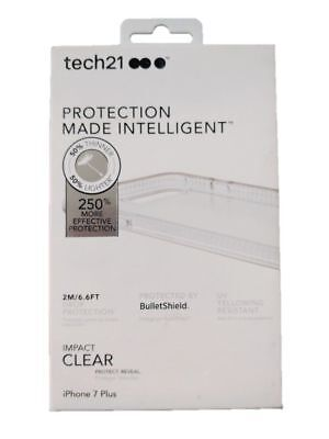Tech21 Impact Clear Case Protection Cover for Apple iPhone 8 Plus Iphone 7 plus