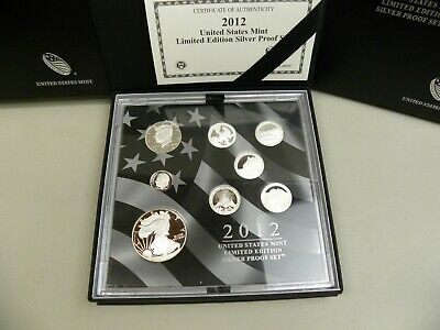 2012   United States Mint     Limited Edition      Silver Proof Set    W/ Coa