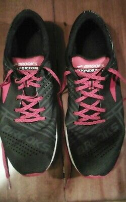 2feecdd7454 BROOKS HYPERION MENS running shoes size 9.5 black gray red -  4.99 ...