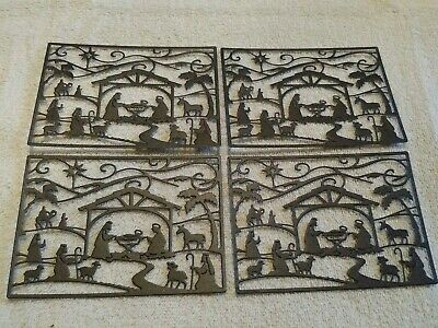 Nativity scene die cuts for cards or scrapbook 4 pieces
