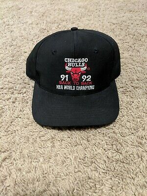 3e03e2987afe1 VINTAGE CHICAGO BULLS Back To Back NBA Champions 91-92 Cap Hat TWILL ...