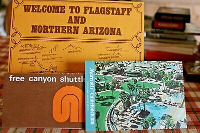 Vintage Travel Brochures Maps Lot Arizona Flagstaff Meteor Crater Sycamore Trail