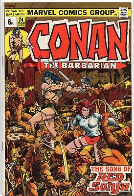 CONAN THE BARBARIAN #24 1st Red Sonja Marvel Comics 1972 NM/NM- Super!