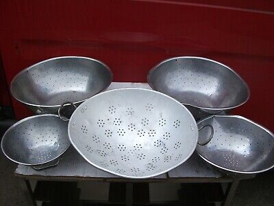 5 X Cheap Colanders  Ranging From 420Mm - 245Mm