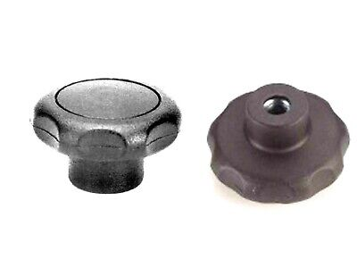 8mm Female Clamping Handwheel/Knob  40mm Handle  8mm Internal Thread TWO PIECES