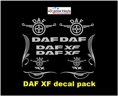 DAF XF decal MEGA PACK. truck graphics stickers ANY COLOUR
