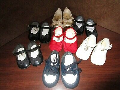 Lot of 7 pair Vintage Baby Shoes