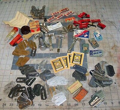 Vintage Lot 3 Gillette 1 US Army safety razor Craftsman Pal Blades Moredge USA