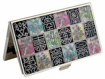 Business Card Case Holder ID Credit Card Case Mother of Pearl Made Korea C50
