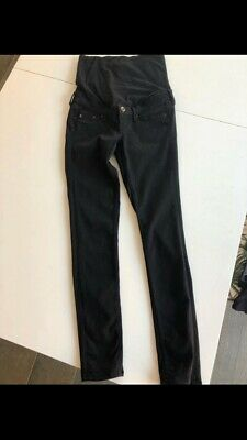 ef1e7dc60d H   M Mama Super Skinny Maternity Jeans Jet Black Size 8 (barely Worn)