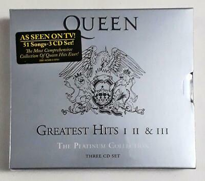 Queen ‎– Greatest Hits I II & III (The Platinum Collection) 3 CD Set Sealed