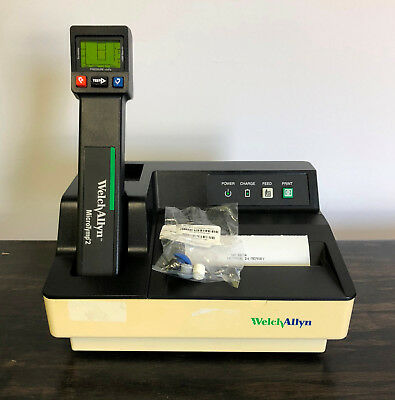 Welch Allyn MicroTymp 2 Tympanometer 23640 / 71170 Printer Charger Micro tymp