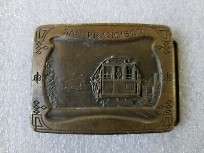 Vintage 1977 San Francisco Cable Car Belt Buckle #M96 National Historic Landmark