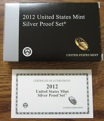 2012 U.S. Mint Silver Proof Set, 14 Piece, Brilliant Proof Coins with COA