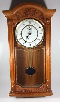 Bulova Westminster Chimes Strikes Whittington Wall Pendulum Clock