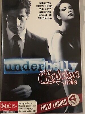 UNDERBELLY - The Golden Mile 4 x DVD Set AS NEW! Complete Season Series