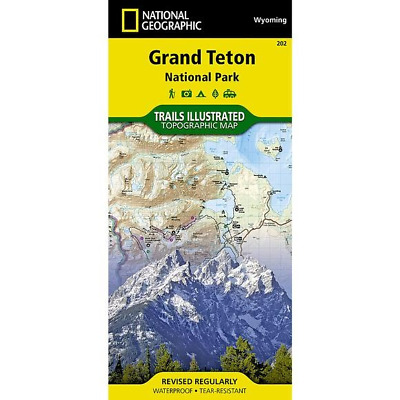 National Geographic Grand Teton National Park Trails Illus Topo Map -WY- # 202