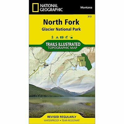 National Geographic North Fork / Glacier NP Trails Illus Topo Map - MT- Map #313